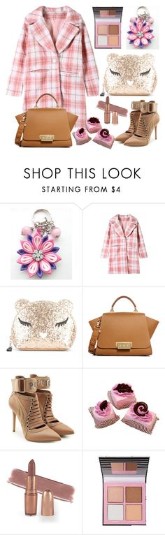 """""""Plaid Coats"""" by airin-flowers ❤ liked on Polyvore featuring Furla, ZAC Zac Posen and Puma"""