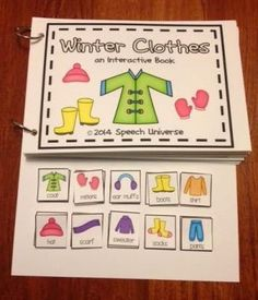 Winter Interactive Books. Great way to use visuals to increase utterance length, and to work on wh questions and vocabulary!