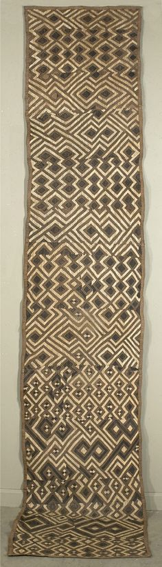 Africa | Ndengese skirt from the Kuba people of DR Congo | Raffia with flat stitching