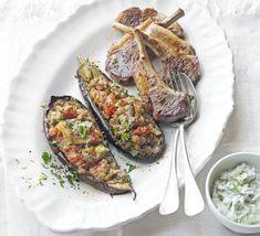 Imam bayildi with BBQ lamb & tzatziki | BBC Good Food
