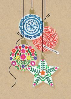 Leading Illustration & Publishing Agency based in London, New York & Marbella. Retro Christmas Decorations, Vintage Christmas Cards, Christmas Baubles, Xmas Cards, Christmas Themes, Christmas Design, Christmas Art, Christmas Greetings, Winter Christmas