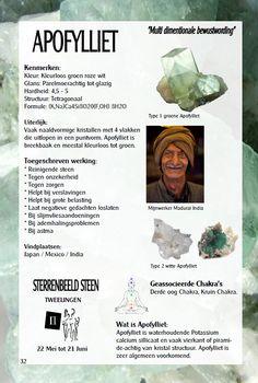 Apofyliet - uitleg en werking - Gaia sieraden