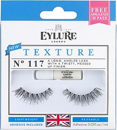 0fe2cf52f92 Eylure's Texture No. 117 are a long, angled lash with a twisty, messed.  ULTA Beauty