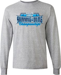 6179668bf swim+and+dive+t-shirts | 2012 MHSAA Swimming and Diving Championship Long  Sleeve T-shirt Sport .