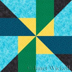 Learn How to Sew an Easy Variation of the Pinwheel Quilt Block Pattern: Pinwheel Quilt Block Intro and Cutting Chart