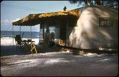 Kodachrome of a Florida Vacation - 1949 Vintage Rv, Vintage Airstream, Vintage Travel Trailers, Vintage Campers, Florida Camping, Florida Vacation, Camping Michigan, Old Florida, Vintage Florida