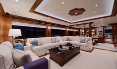 Horizon P110 Interior #yachts #interiordesign www.bushandnoble.com