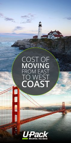 """Moving from the east to west cost? Compare the cost of moving with a rental truck, full-service movers and """"you pack, we drive"""" services, and figure out the best solution for your situation. Full Service Movers, Moving Costs, Golden Gate Bridge, East Coast, Washington, Outdoors, Explore, How To Plan, Travel"""