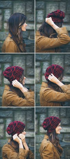 It's cold, it's damp, maybe your late, and your hair just won't cooperate! Check out this easy tutorial on how to look good wearing a beanie! #hatstyle