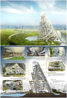 Envisioning a New Tatlin's Tower at Ciliwung River in Jakarta | PHL Architects (Patrick Lim Hendy Lim)