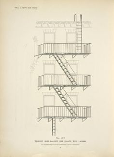 39 New Ideas Apartment Building Stairs Fire Escape Interior Stair Railing, Staircase Design, Building Stairs, Building Facade, Staircase Drawing, Travel Photographie, Stairs Architecture, Victorian Architecture, Iron Balcony