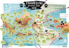 Indonesian National Parks Map