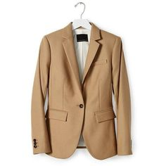 Camel Italian Flannel Blazer | Banana Republic ❤ liked on Polyvore featuring outerwear, jackets, blazers, banana republic, camel jacket, flannel jacket, beige blazer and banana republic jacket