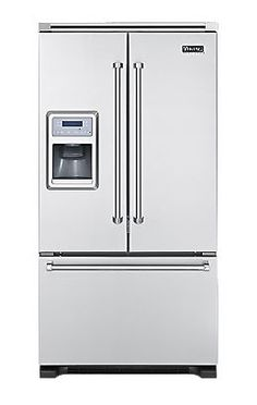 Viking French Door Bottom-Mount Refrigerator/Freezer w/ Ice & Water  I don't really care if all my appliances match but I have to say so far this is the fridge I like best.