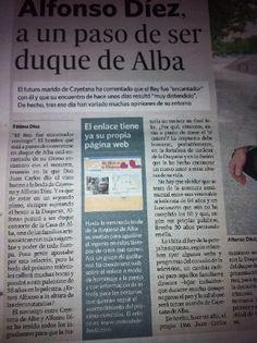 """""""Que no pare la musica. Nos vamos de boda con la duquesa"""". 1 de octubre de 2011. Diario de Cadiz, Grupo Joly. unawebdeboda.com"""