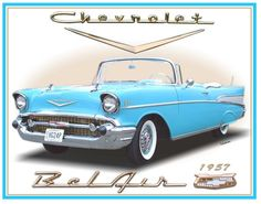 57 Chevy Bel Air #classic #car