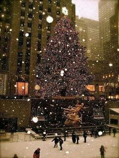Rockefeller Center. I love the Christmas Tree that always goes up the Wednesday after Thanksgiving.
