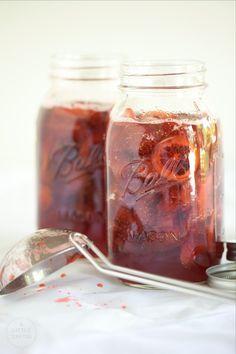 Strawberry Lemon Verbena Refrigerator Jam with Candied Lemon Slices