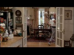 French doors into the kitchen. Father of the Bride house again.