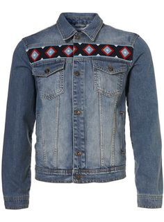 topman denim aztec western jacket