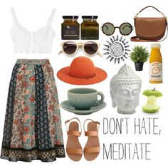 Don't hate, meditate. by erinashleylang on Polyvore