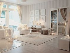 Thuesday afternoon I really like this open space at my home Tänään Interior, Dream Living Rooms, Living Room Modern, Wallpaper Living Room, House Interior, Apartment Decor, Striped Wallpaper Living Room, Home Interior Design, Interior Design