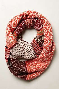 Anthropologie - Fairisle Infinity Scarf