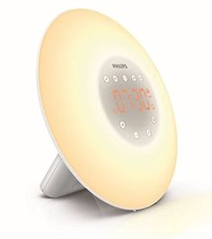 Philips Wake-Up Light Alarm Clock HF3505/01 with Sunrise Simulation - 2 Natural Sounds and Radio