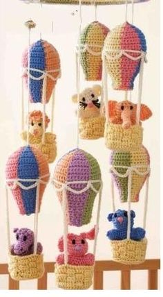 Free pattern, balloon mobile - now I wish I could actuall do that!!!