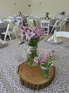 Rustico on pinterest mesas casamento and wood slab - Centro de mesa rustico ...