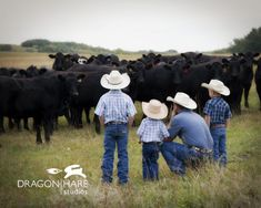 I photographed this little cowboys last year on their horses, and it was neat to see how much they& grown over the past year. We didn& have horses this year, but a field full of heifers made a great backdrop for them to spend some time with Dad. Little Cowboy, Cowboy And Cowgirl, Country Blue, Country Girls, Country Living, Country Charm, Country Babies, Country Style, Country Music