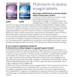 Multivitamin és ásványi anyagok