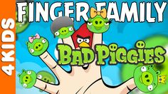 The Finger Family Angry Birds Bad Piggies