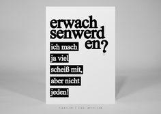 Humor - ► postkarte   erwachsen   T009 - ein Designerstück von claus-peter-2 bei DaWanda
