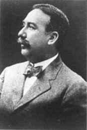 """Edwin S Porter (1870-1941). Primer cineasta, és considerat el paradigma del que ha de ser un director cinematogràfic. Film més reconegut: """"The great train robbery"""", (1903)."""