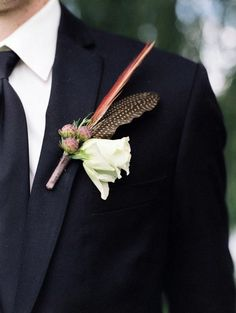 Fall Wedding Boutonnieres For Every Groom  www.MadamPaloozaEmporium.com www.facebook.com/MadamPalooza