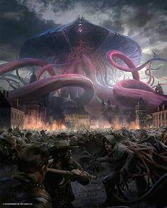 """Art inspiration & feature page (@paintingswow) on Instagram: """"Looks like the world is fucked.  All praise our new octopus  gods  . .  Stunning Artwork by…"""""""