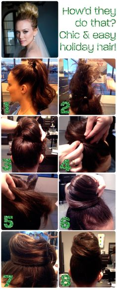 How'd they do that? Easy holiday updo how to!