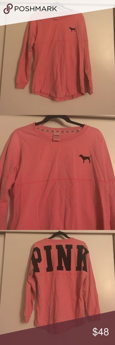 Pink VS Crew Perfect condition, rarely worn, rare sought after VS crew! Super cute to thrown on! PINK Victoria's Secret Tops Sweatshirts & Hoodies