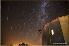 Star Trail Boyden Sterrewag.  Photograph by Charles Whitehead