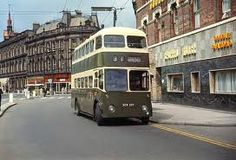 Victoria Street in Derby,the buses which run in Derby are no longer this colour