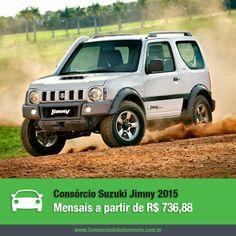 Você conhece o Suzuki Jimny? O jipe é fabricado no Brasil e agora chega à linha 2015 com airbag duplo, freios ABS e novidades no visual de sua versão top de linha. A vantagem é que você pode programar a compra do seu em até 80 parcelas sem juros pelo consórcio! Acesse a matéria e saiba mais sobre o modelo: https://www.consorciodeautomoveis.com.br/noticias/suzuki-jimny-2015-a-partir-de-r-736-88-mensais?idcampanha=206&utm_source=Pinterest&utm_medium=Perfil&utm_campaign=redessociais