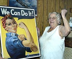 Geraldine Hoff Doyle (Lansing, Michigan), the woman who inspired Rosie the Riveter (RIP)