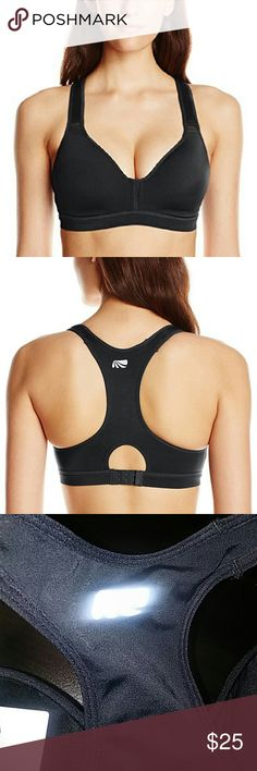 Marika High Impact Sport Bra Inner lining with moisture performance fabric that moves moisture away from your body. Molded cup pads. Decorative trim detail. Elastic underband for extra support. Reflective logo on back. Back keyhole for ventilation. Adjustable hook and eye closure. Bra is recommended for high impact activities like running, tennis, or team sports Marika Intimates & Sleepwear Bras