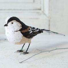 Hand-Stitched Bird, Aegithalos caudatus