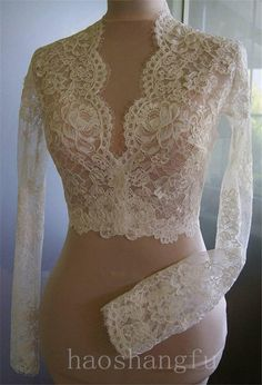 Hot Sale V Neck New White Ivory Bridal Wedding Bolero Jacket 2-26W Custom 2015 #WrapsShawls