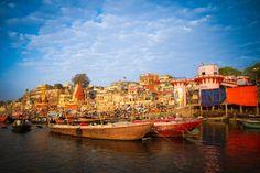 Sunrise on the Ganges river in Varanasi - http://worldlynomads.com/index.php/varanasi-india/