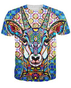 851b3106eee7 women men tops tee Cosmoctolope T-Shirt 3d vibrant colors a trippy antelope  t shirt fashion clothing summer style t-shirt
