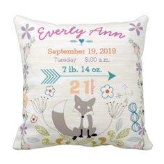New baby nursery pillow collection