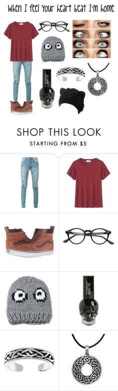 """When I feel your heartbeat I'm home"" by derpybabyguppy ❤ liked on Polyvore featuring Yves Saint Laurent, Toast, Vans, WithChic and Carolina Glamour Collection"
